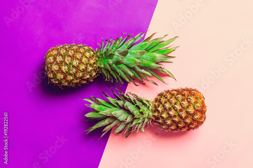 pineapple on colored paper - 192822561