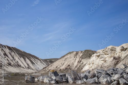 Beautiful view of limestone quarry.