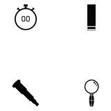 clay shooting icon set - 192826171