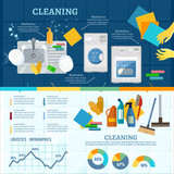 Cleaning service infographic. Home cleaning carpet cleaning washing dishes vector - 192836319