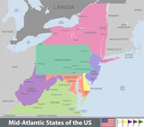 Mid Atlantic States of the United States - 192848307