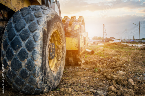 heavy machinery at construction site - 192848590