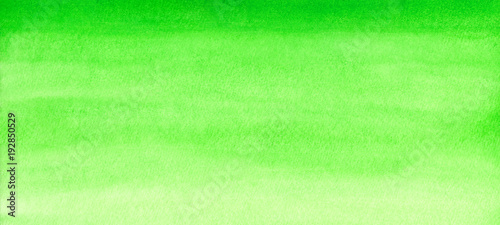 Leinwandbild Motiv Web banner green watercolor gradient background abstract painted template with paper texture.