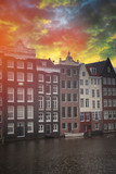 Traditional old buildings in Amsterdam - 192851556