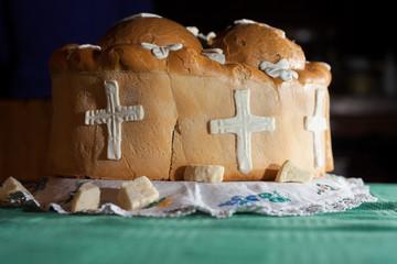 traditional eastern Orthodox church bread