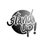 black stand up message - 192856310