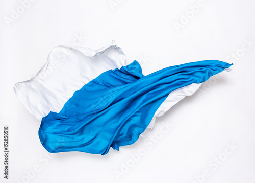 abstract blue and white fabric in motion