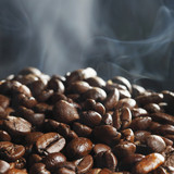 Hot roasted coffee beans - 192863904