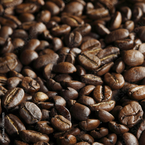 Sticker Roasted coffee beans