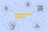 Business illustration showing the concept of bargaining power - 192866182