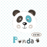 Vector  illustration with cute panda - 192867981