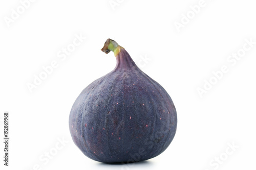 Ripe fig isolated on white background