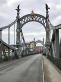 Salzachbrücke zwischen Laufen und Oberndorf bei Salzburg (Bayern + Österreich) - 192878381