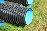 Stacked PVC pipe - 192880527