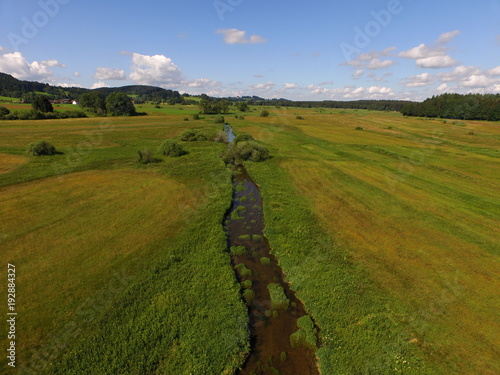 aerial small river