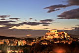Illuminated Acropolis in Athens, Greece at dusk - 192887786