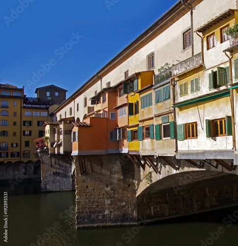 Aluminium Florence View of Ponte Vecchio in Florence, Italy
