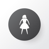 Woman icon symbol. Premium quality isolated female element in trendy style. - 192898547