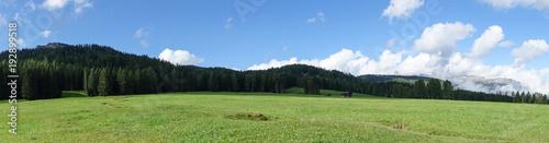 Foto op Plexiglas Panoramafoto s Landscape view of Unesco World Heritage site Dolomiti, Alta Badia, Italy