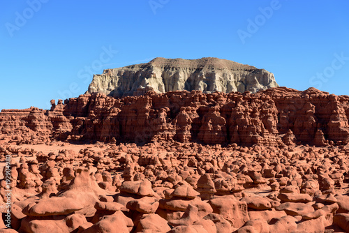 Papiers peints Marron Landscape view of the rock formations of Goblin Valley State Park in Utah USA