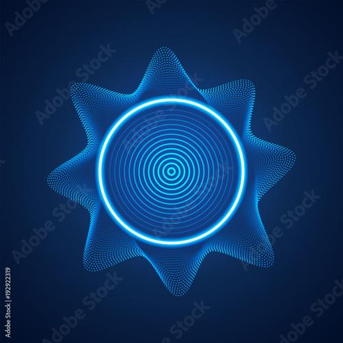 Foto op Plexiglas Abstract wave abstract digital blue equaliser, sound wave pattern element