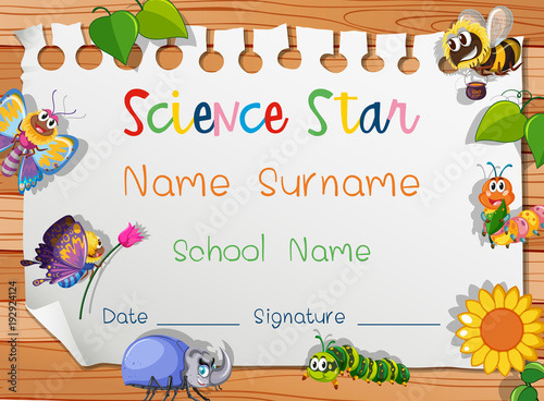 certificate template for science star buy photos ap images