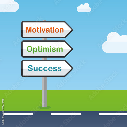 motivation direction signs abstract concept