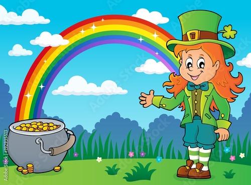 Foto op Canvas Voor kinderen Leprechaun girl theme image 4
