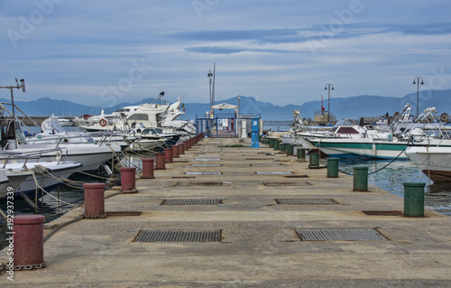 Overview of the marina of Agropoli village