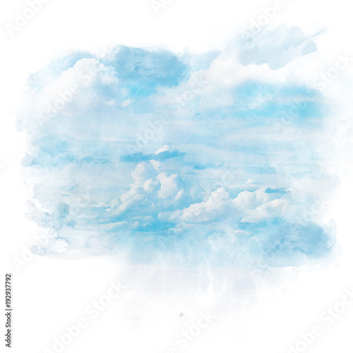 Fototapeta Blue sky with white cloud.
