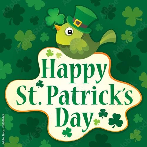 Foto op Canvas Voor kinderen Happy St Patricks Day theme 7