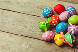 easter background, top view - 192941714