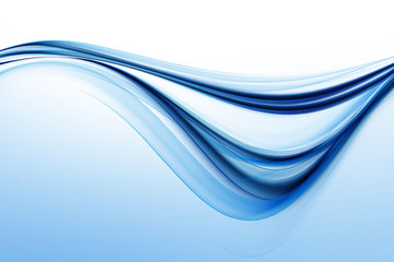 Water concept. Abstract liquid blue background for design. Modern wave bright digital illustration.