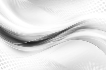 Gray White Bright Waves Design Abstract Wallpaper Halftone Raster Background