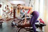 Beautiful woman training in gym - 192943397