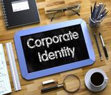 Corporate Identity Handwritten on Small Chalkboard. 3d - 192944796