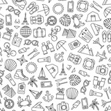 seamless pattern with traveling icons - 192945139