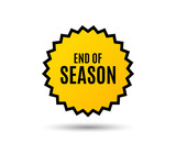 End of Season Sale. Special offer price sign. Advertising Discounts symbol. Star button. Graphic design element. Vector - 192946364