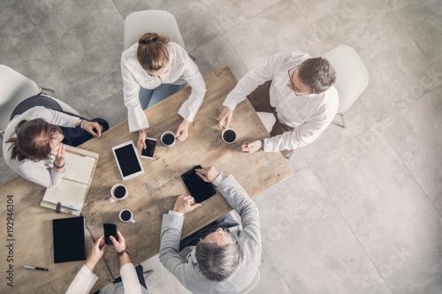 Naklejka Working table, business meeting