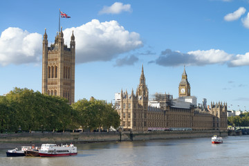 Westminster Palace on a sunny afternoon, London