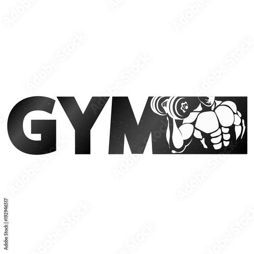 Sticker Gym symbol for sports