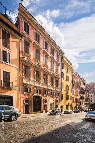 Street scene in Rome, Italy.