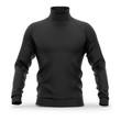 Men's sweater with long raglan sleeves. Front view. 3d