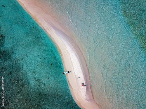 Plexiglas Tropical strand Maldives aerial view panorama landscape