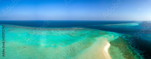 Maldives aerial view panorama landscape - 192952740