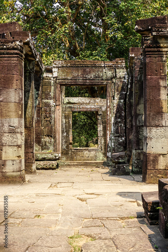 Inside one of the many temples in Angkor Wat, Siem Reap, Cambodia