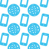 technology world smartphone connection digital pattern image vector illustration - 192957799