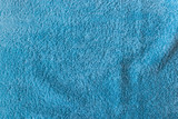 Close-up of soft turquoise towel texture background viewed from above. - 192963570
