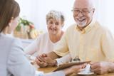 Senior people and financial advisor - 192968107