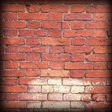 Urban Graffiti Grunge Brick Wall With Abstract Frame Background Texture